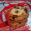 Cookies cranberries, amandes et chocolat au blait de ninotchka