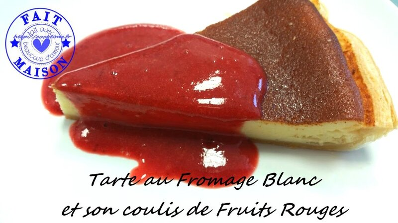Tarte au fromage blanc et son coulis de fruits rouges 2