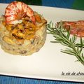 RISOTTO AUX MOULES MARINIERES ET AUX GAMBAS