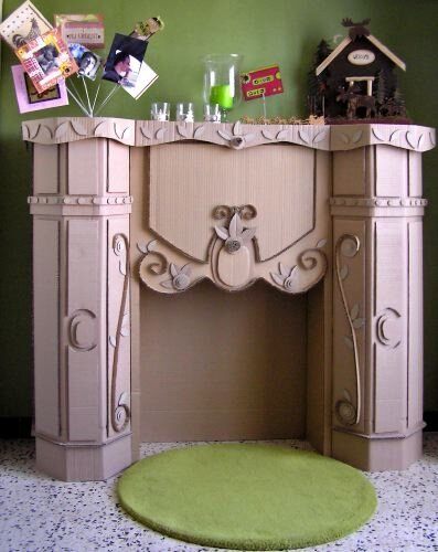 chemin e en carton photo de d corations de noel th mascrap. Black Bedroom Furniture Sets. Home Design Ideas