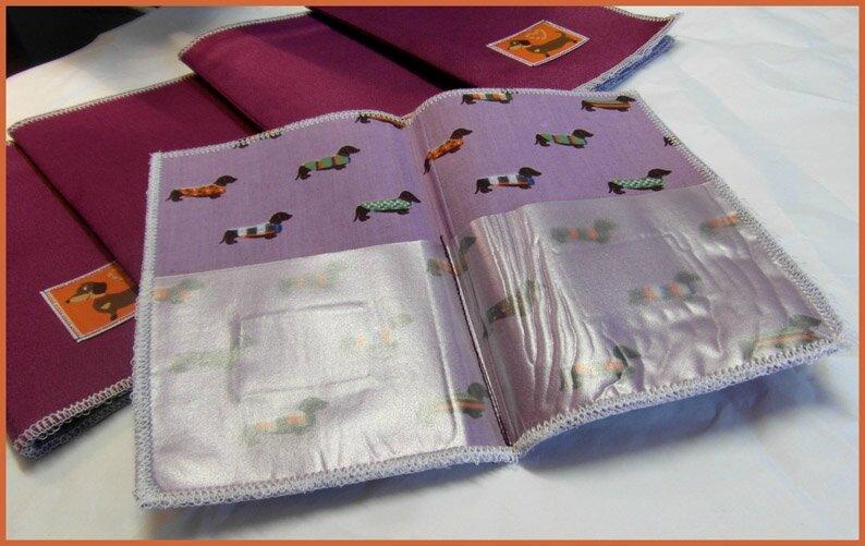 pochettes chiens intérieur complet