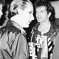 Damned-Dave Vanian & Brian James 1977 Backstage Bilzen