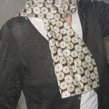 Foulard toria chocolat