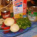 Gratin de pâtes aux salsifis et poivrons