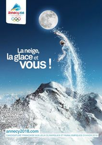 Affiche de merde pour Annecy en 2018