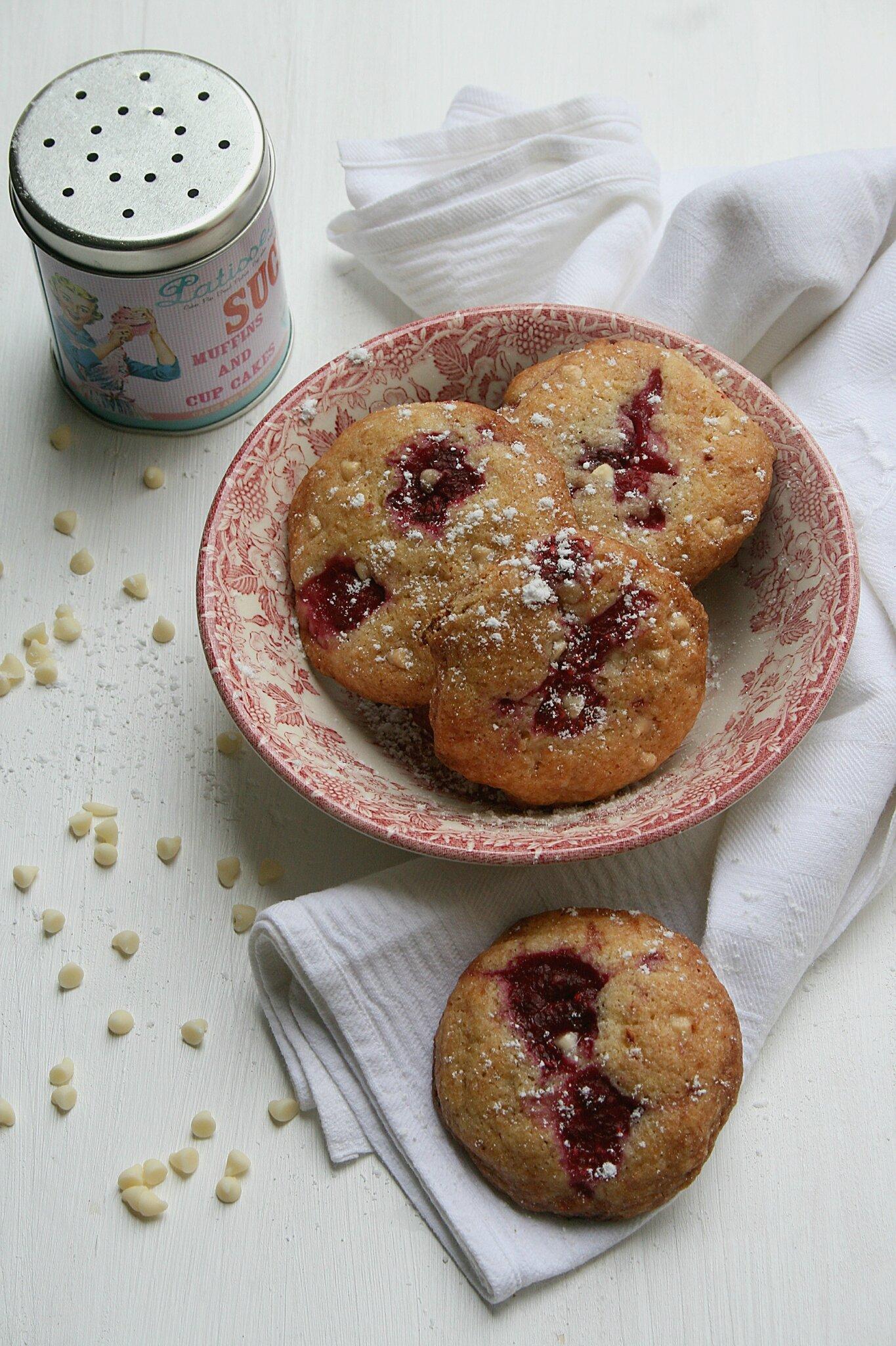 Cookies à la framboise et chocolat blanc