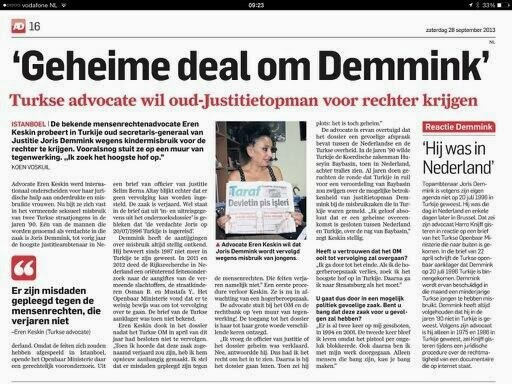 Geheime deal om Demmink AD