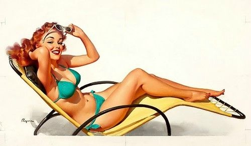 green pin up