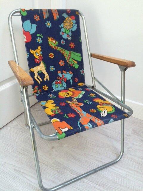 fauteuil de camping pour enfant so vintage envie de grenier. Black Bedroom Furniture Sets. Home Design Ideas