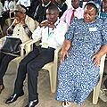 En pleine prière pendant une récollection avec le Centre Mchungaji Mwema à Kiswishi (Environ 15km de Lubumbashi)