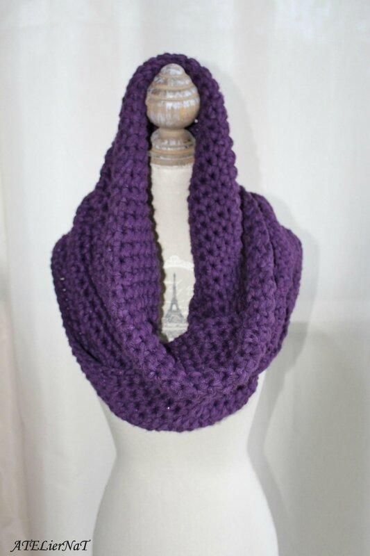 Snood XXL violet6