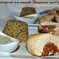 Roulé de poulet à la ratatouille champenoise aux 6 légumes sauce moutarde à l'ancienne + partenaire