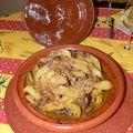 Tajine de poulet aux poires, miel & cannelle