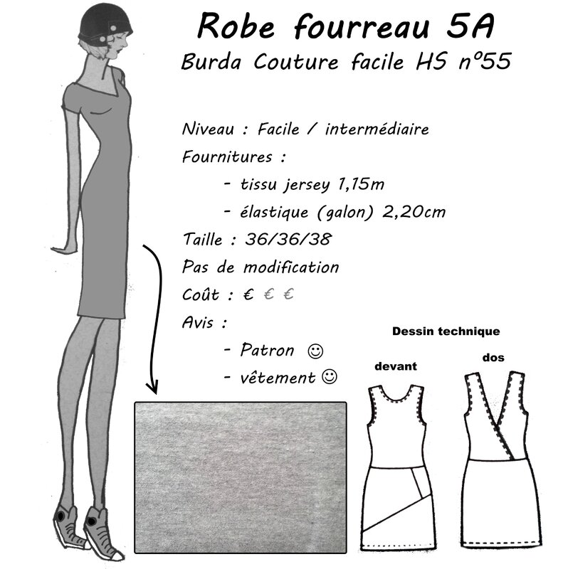 Burda - Robe 5A couture facile 2015