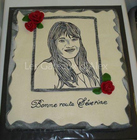 Gâteau portrait Séverine