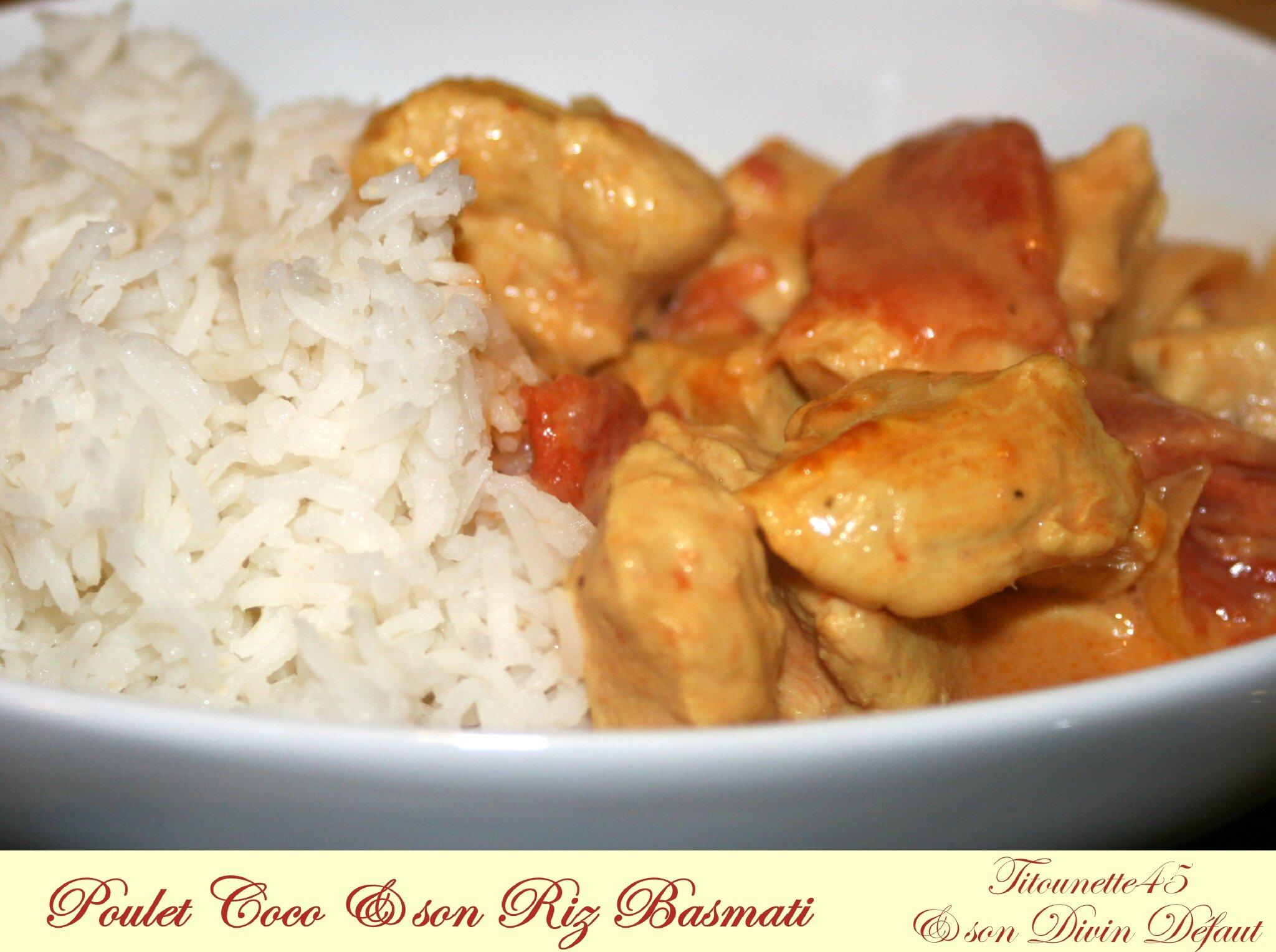 Poulet coco et riz basmati