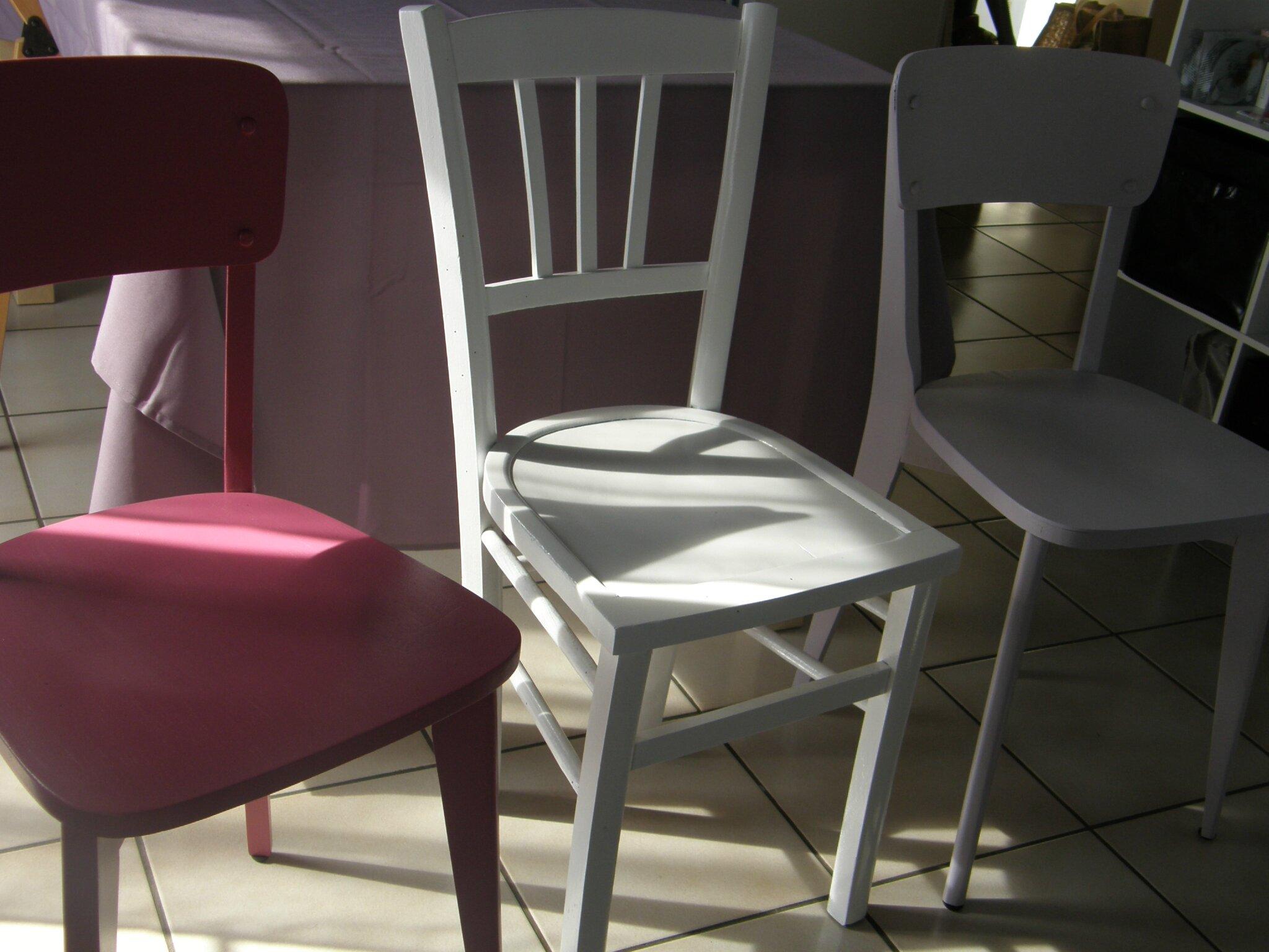Relooker de vieilles chaises en bois joy 39 s kitchen - Relooker chaise bois ...