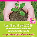 Le printemps à la ferme en normandie [16 et 17 avril]