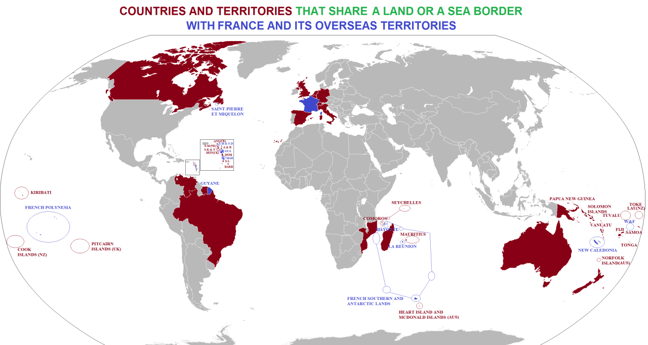 Countries that share a border with France
