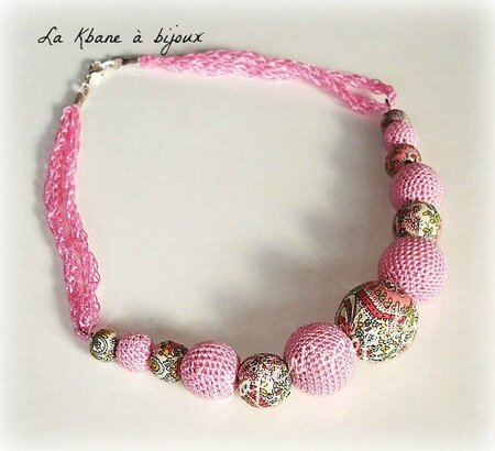 collier tissu Liberty rose2