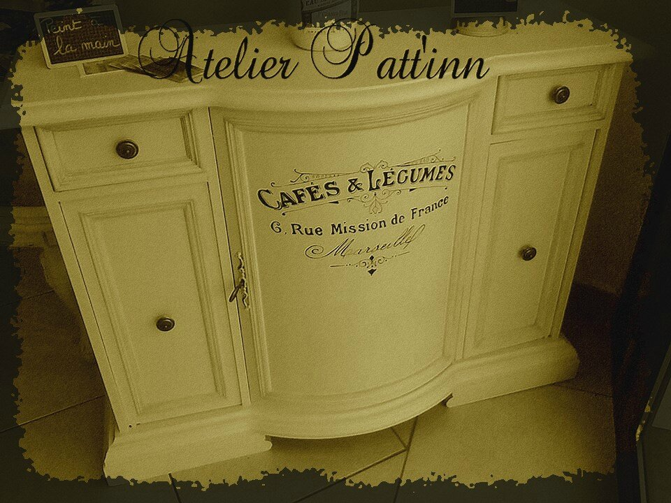 Relooking avec calligraphie ancienne atelier patt 39 inn atelier - Relooking avec photo ...