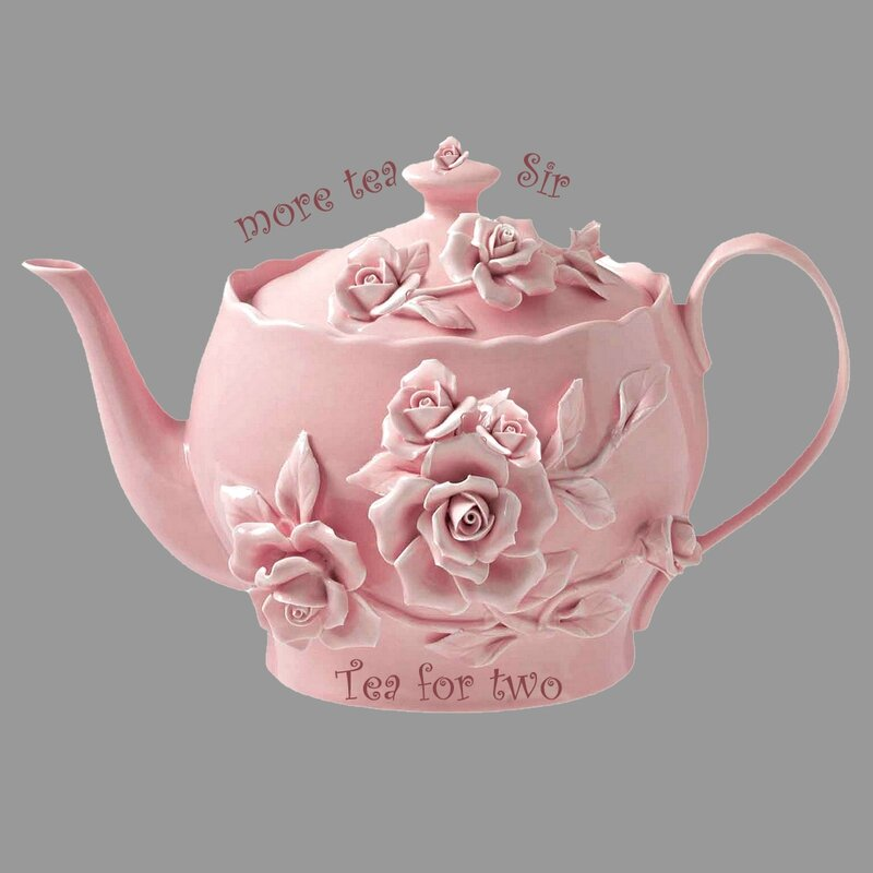 Théière quitch rose tea for 2