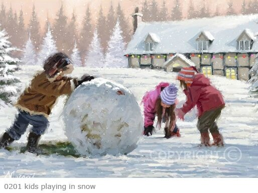 richard macneil kids playing in snow