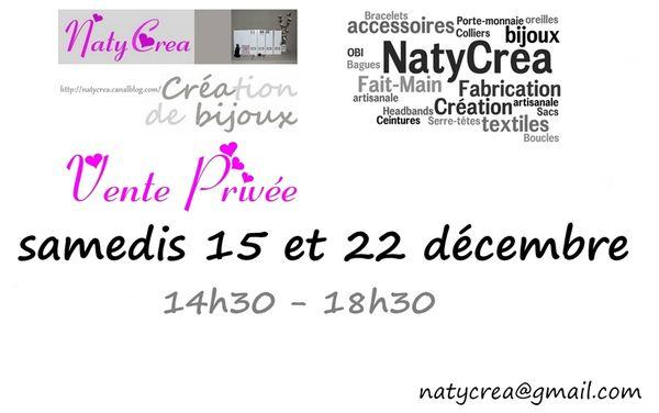 Flyer Vente Privée NatyCrea STHerblain décembre 2012v1024