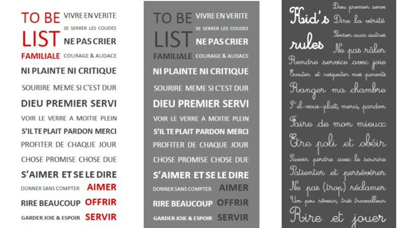 To be list et Kids