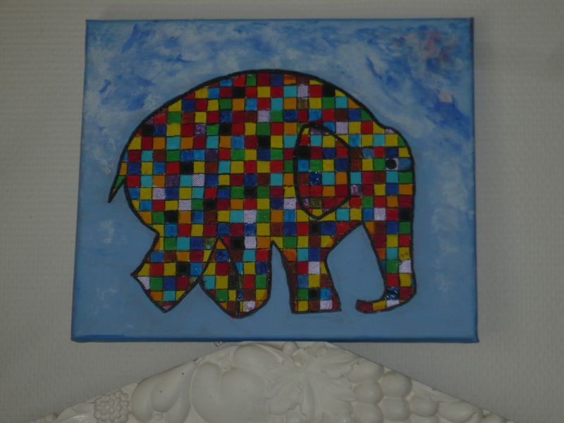 tableau elephant couleur top the big one trompe de lulphant with tableau elephant couleur. Black Bedroom Furniture Sets. Home Design Ideas