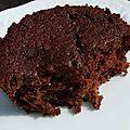 Moelleux poire chocolat (sans matière grasse ajoutée)