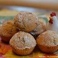 Les muffins aux pépites de chocolat et à la noix de coco