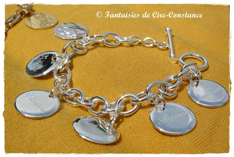 Bracelet mailles rondes Ag Vierge