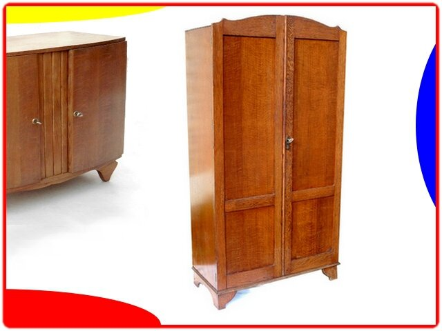 armoire penderie dressing anglais vintage