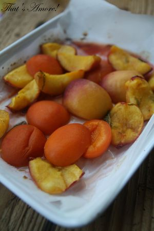 Frutta cotta e gelato