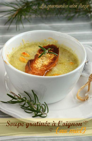 soupe gratinée oignon et miel