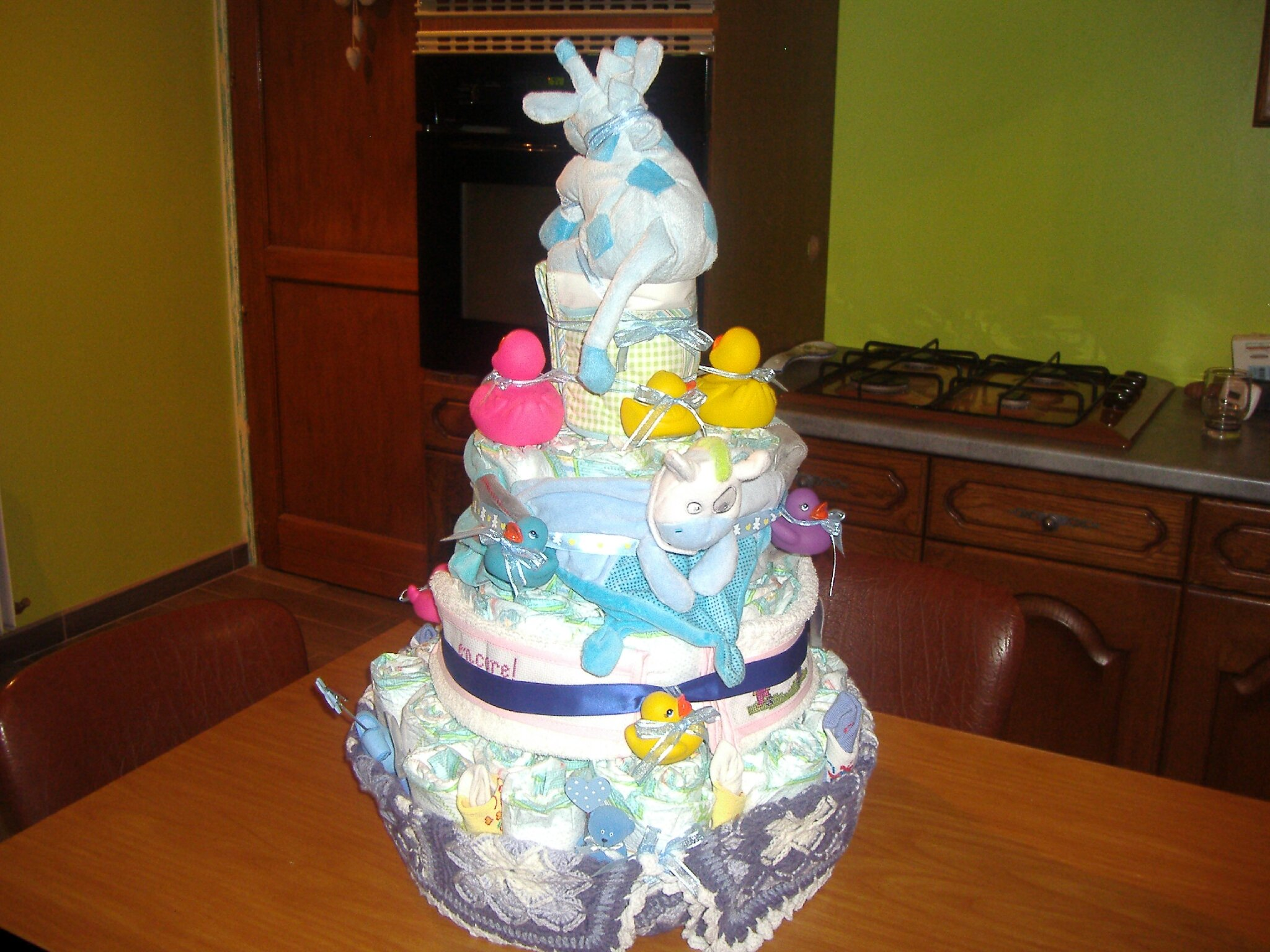 Gâteau de couches de dos pour Hugo