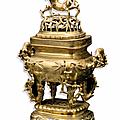 Brûle parfum couvert ajouré. vietnam, début du xxème siècle