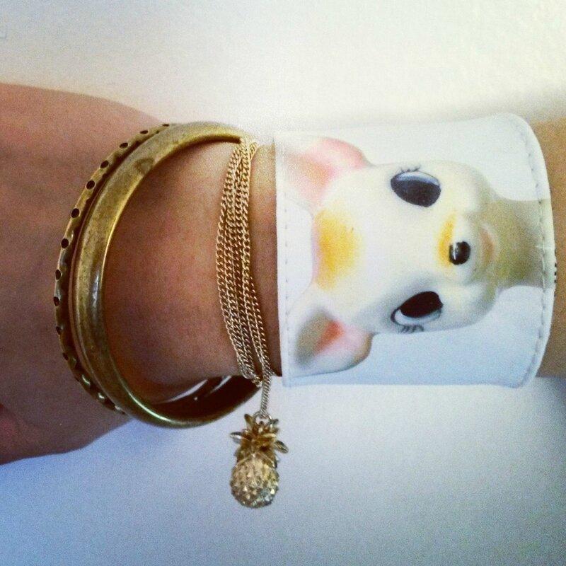 bracelet manchette tissu femme imprime