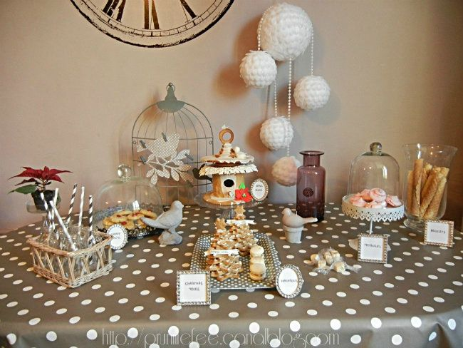 white christmas sweet table