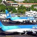 Plane Tahiti airport