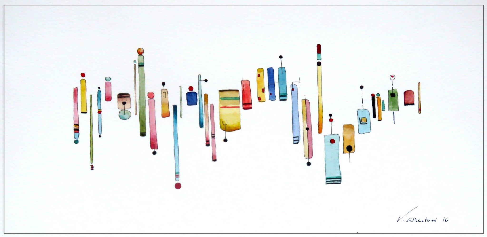 aquarelle abstraite valerie Albertosi artiste peintre française