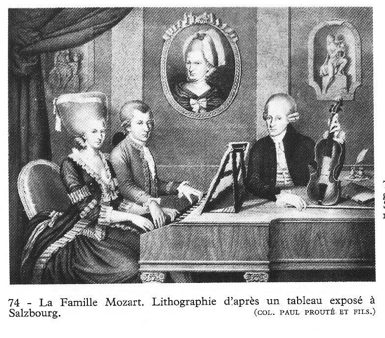 mozart (la famille) lithographie
