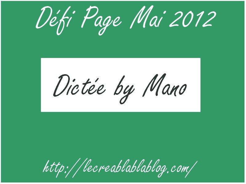 Défi Page Mai 2012