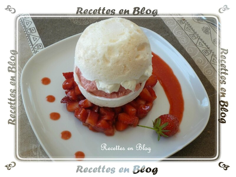 meringue sorbet fraise chantilly1