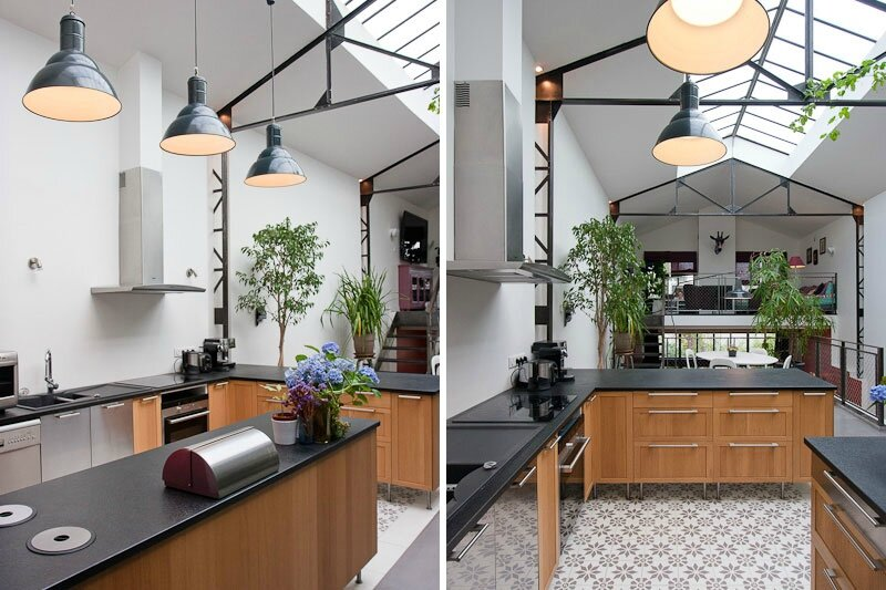 Decoration cuisine style loft for Deco cuisine loft