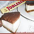 Bavarois à la vanille et aux toblerones