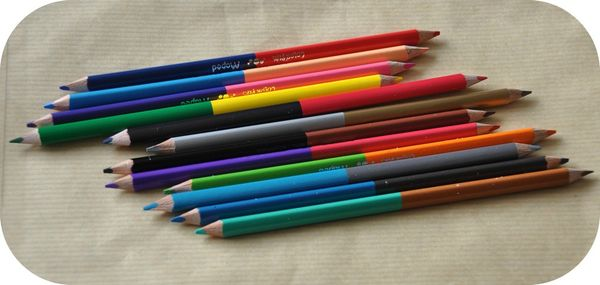 crayons double pointe 1