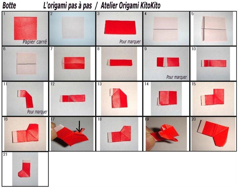 botte 1 pour calendrier de l 39 avent no l l 39 origami pas pas atelier origami kitokito. Black Bedroom Furniture Sets. Home Design Ideas