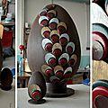 Création de factices alimentaires / faux chocolats factices / pour la décoration des vitrines fauchon paris 2014